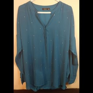Sparkle Teal Blouse